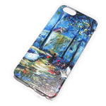 Чехол Yotrix Aquarelle для Apple iPhone 6 (Night garden, пластиковый)