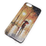 Чехол Yotrix Aquarelle для Apple iPhone 6 (Umbrella under rain, пластиковый)