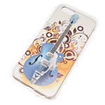 Чехол Yotrix Aquarelle для Apple iPhone 6 (Guitar on white, пластиковый)