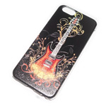 Чехол Yotrix Aquarelle для Apple iPhone 6 (Guitar on black, пластиковый)