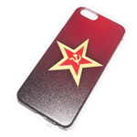 Чехол Yotrix Aquarelle для Apple iPhone 6 (Soviet star, пластиковый)
