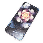 Чехол Yotrix Aquarelle для Apple iPhone 6 (Flower dark, пластиковый)