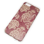 Чехол Yotrix Aquarelle для Apple iPhone 6 (Ornament red, пластиковый)