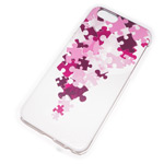 Чехол Yotrix Aquarelle для Apple iPhone 6 (Pink puzzle, пластиковый)