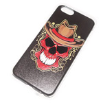 Чехол Yotrix Aquarelle для Apple iPhone 6 (Skull hat, пластиковый)