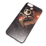 Чехол Yotrix Aquarelle для Apple iPhone 6 (Skull on bird, пластиковый)