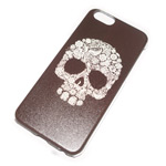 Чехол Yotrix Aquarelle для Apple iPhone 6 (Skull ornament, пластиковый)