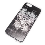 Чехол Yotrix Aquarelle для Apple iPhone 6 (Skull bondi white, пластиковый)