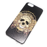 Чехол Yotrix Aquarelle для Apple iPhone 6 (Skull golden, пластиковый)