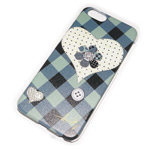 Чехол Yotrix Aquarelle для Apple iPhone 6 (Heart patch, пластиковый)