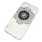 Чехол Yotrix Aquarelle для Apple iPhone 6 (Flower patch white, пластиковый)