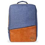 Рюкзак Remax Double Bag #398 (синий/коричневый, 2 отделения, 15-17