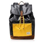 Рюкзак Remax Double Bag #308 (черный/желтый, кожаный, 1 отделение)