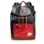 Рюкзак Remax Double Bag #308 (черный/красный, кожаный, 1 отделение)