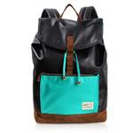 Рюкзак Remax Double Bag #308 (черный/синий, кожаный, 1 отделение)