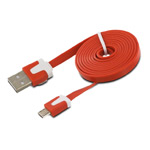USB-кабель WhyNot Flat Cable универсальный (microUSB, 1 метр, оранжевый) (NPG)