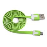 USB-кабель WhyNot Flat Cable универсальный (microUSB, 1 метр, зеленый) (NPG)