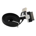 USB-кабель WhyNot Flat Cable универсальный (30-pin, 1 метр, черный) (NPG)