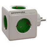 Pазветвитель Allocacoc PowerCube Original (220В, 5 розеток, белый/зеленый)