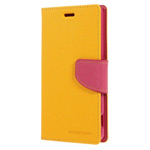 Чехол Mercury Goospery Fancy Diary Case для Sony Xperia Z3 L55t (желтый, кожаный)