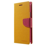 Чехол Mercury Goospery Fancy Diary Case для Samsung Galaxy Note 4 N910 (желтый, кожаный)