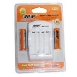Зарядное устройство MP 801 сетевое (зарядка 2 шт. x AA/AAA, комплект 2 шт. х АА 2000 mAh)