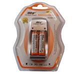 Зарядное устройство MP 812 сетевое (зарядка 2 шт. x AA/AAA/1 шт. крона, комплект 2 шт. х АА 2000 mAh)