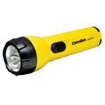 Светодиодный фонарик Camelion SuperBright (6 светодиодов, 2 батарейки D, желтый)