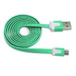 USB-кабель WhyNot Flat Cable универсальный (microUSB, 1 метр, бирюзовый) (NPG)