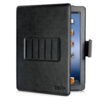Чехол Dexim Vogue Folio Jacket Multiple для Apple iPad 2/new iPad (черный, кожаный)