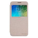 Чехол Nillkin Sparkle Leather Case для Samsung Galaxy E5 SM-E500 (золотистый, винилискожа)