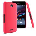 Чехол Yotrix HardCase для Sony Xperia E4 (красный, пластиковый)
