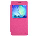 Чехол Nillkin Sparkle Leather Case для Samsung Galaxy A7 SM-A700 (розовый, винилискожа)