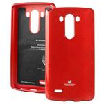 Чехол Mercury Goospery Jelly Case для LG G4 F500 (красный, гелевый)
