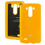 Чехол Mercury Goospery Jelly Case для LG G4 F500 (оранжевый, гелевый)