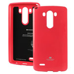 Чехол Mercury Goospery Jelly Case для LG G4 F500 (малиновый, гелевый)