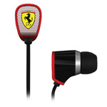 Наушники Logic3 Ferrari Scuderia Collection R100i (черные, пульт/микрофон, 10 мм)