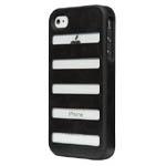 Чехол X-doria Dash case для Apple iPhone 4/4S (черный, кожанный)