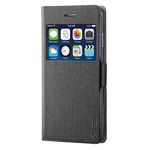 Чехол RGBMIX X-Fitted Privacy Guard для Apple iPhone 6 plus (черный, кожаный)