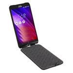 Чехол Yotrix FlipCase для Asus ZenFone 2 ZE500CL (черный, винилискожа)