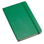Записная книжка Moleskine Notebook (210x130 мм, зеленая, нелинованная, 240 страниц)