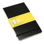 Записная книжка Moleskine Soft Reporter Notebook (210x130 мм, черная, клетка, 192 страницы)