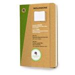 Записная книжка Moleskine Evernote Journals (90x140 мм, бежевая, клетка, набор 2 шт по 80 страниц)