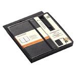 Подарочный набор Moleskine Notebook and Pen (чарный ежедневник в линейку 210x130 мм, черная ручка)
