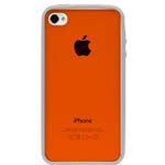 Чехол X-doria Scene Case для Apple iPhone 4/4S (белый/оранжевый)