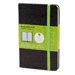 Записная книжка Moleskine Evernote Smart Notebook (90x140 мм, черная, клетка, 192 страницы)