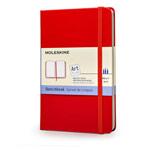 Записная книжка Moleskine Scetchbook (90x140 мм, красная, нелинованная, 80 страниц)