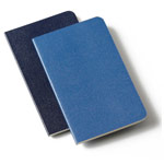 Записная книжка Moleskine Volant (90x140 мм, синяя, нелинованная, набор 2 шт. по 80 страниц)