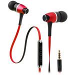 Наушники Awei Metal Rock (пульт/микрофон) (18-22000 Гц, 10 мм) (красные) (для Apple iPhone/iPod/iPad)