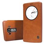 Чехол Nillkin Qin leather case для LG G4 F500 (коричневый, кожаный)